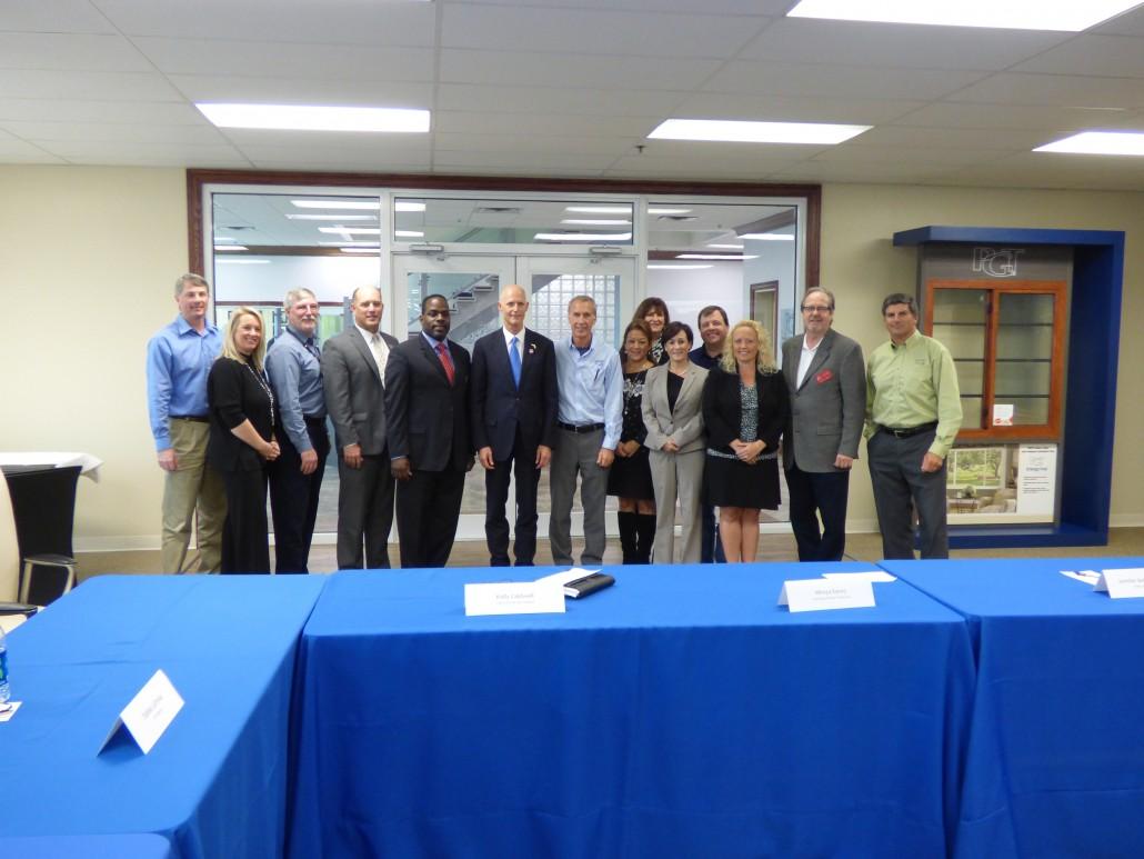 Sarasota Manufacturing Governor Rick Scott PGT CareerEdge 1