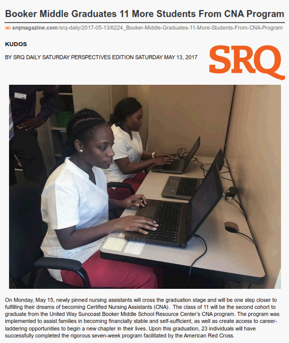 Booker Middle Graduates 11 More Students From CNA Program - SRQ Daily May 13, 2017_001